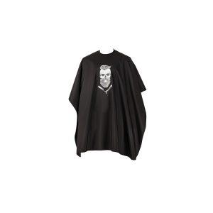 Barber Skull Kapmantel Zwart, haakjes