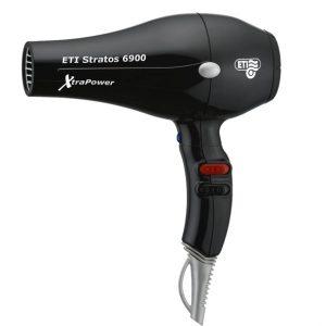 ETI 6900 Stratos XtraPower Fohn Zwart 2500w