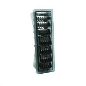 Wahl Opzetkamset Plastic Zwart Nr.1 t/m 8 (3-25mm) 8 Stuks