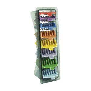 Wahl Opzetkamset Plastic Gekleurd Nr. 1 t/m 8 (3-25mm) 8 stuks