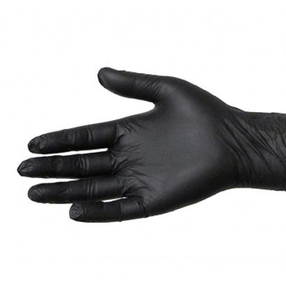 Latex Handschoenen Zwart Medium 100st